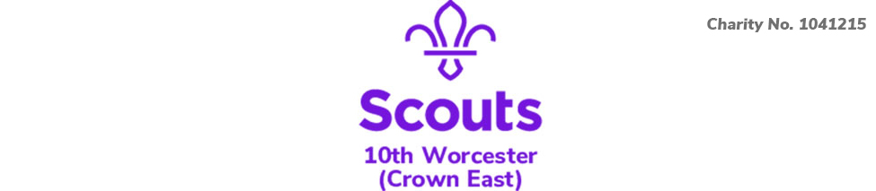 10th Worcester Scouts Charity No. 1041215